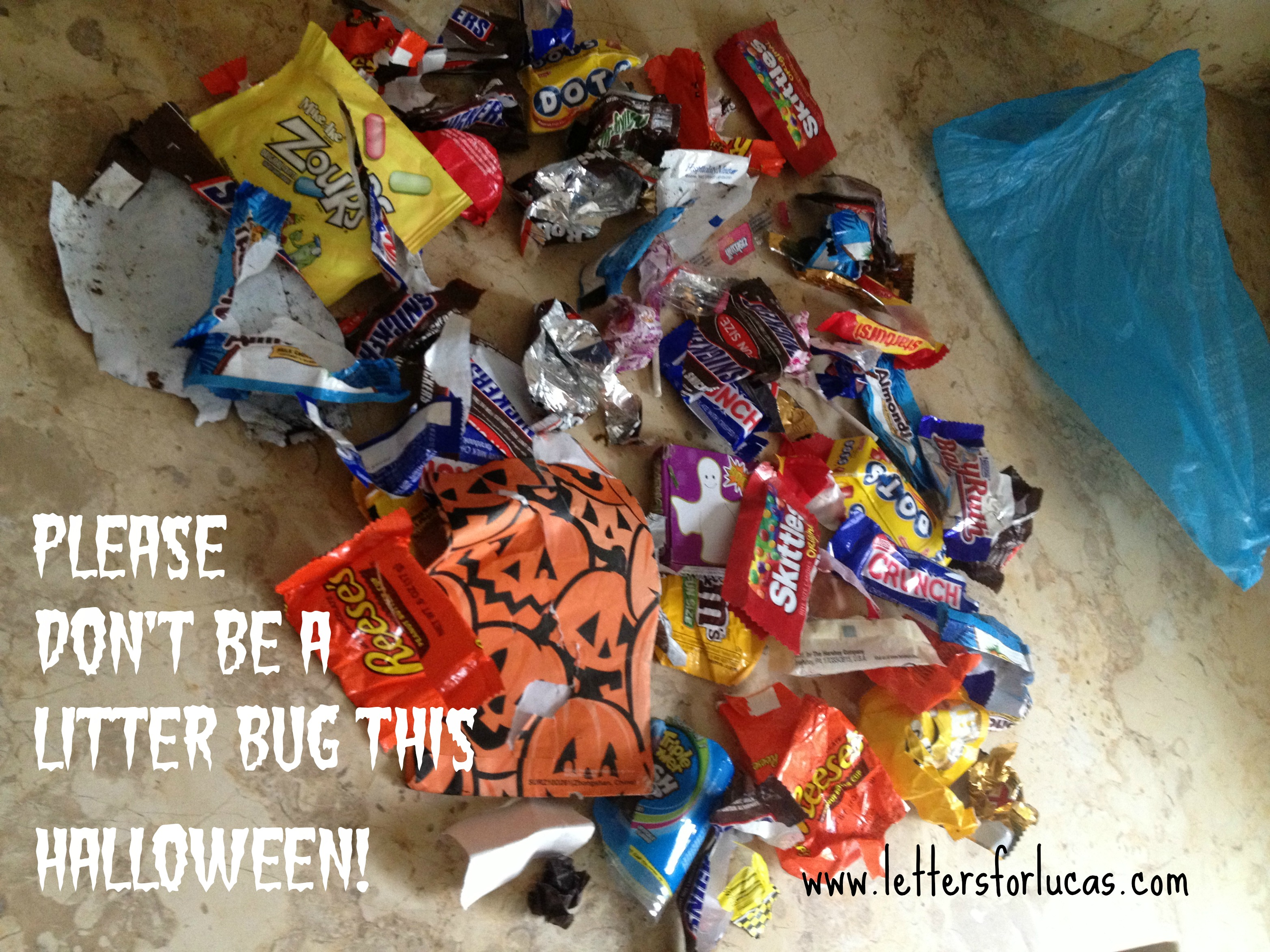 Don't be a litter bug on Halloween!
