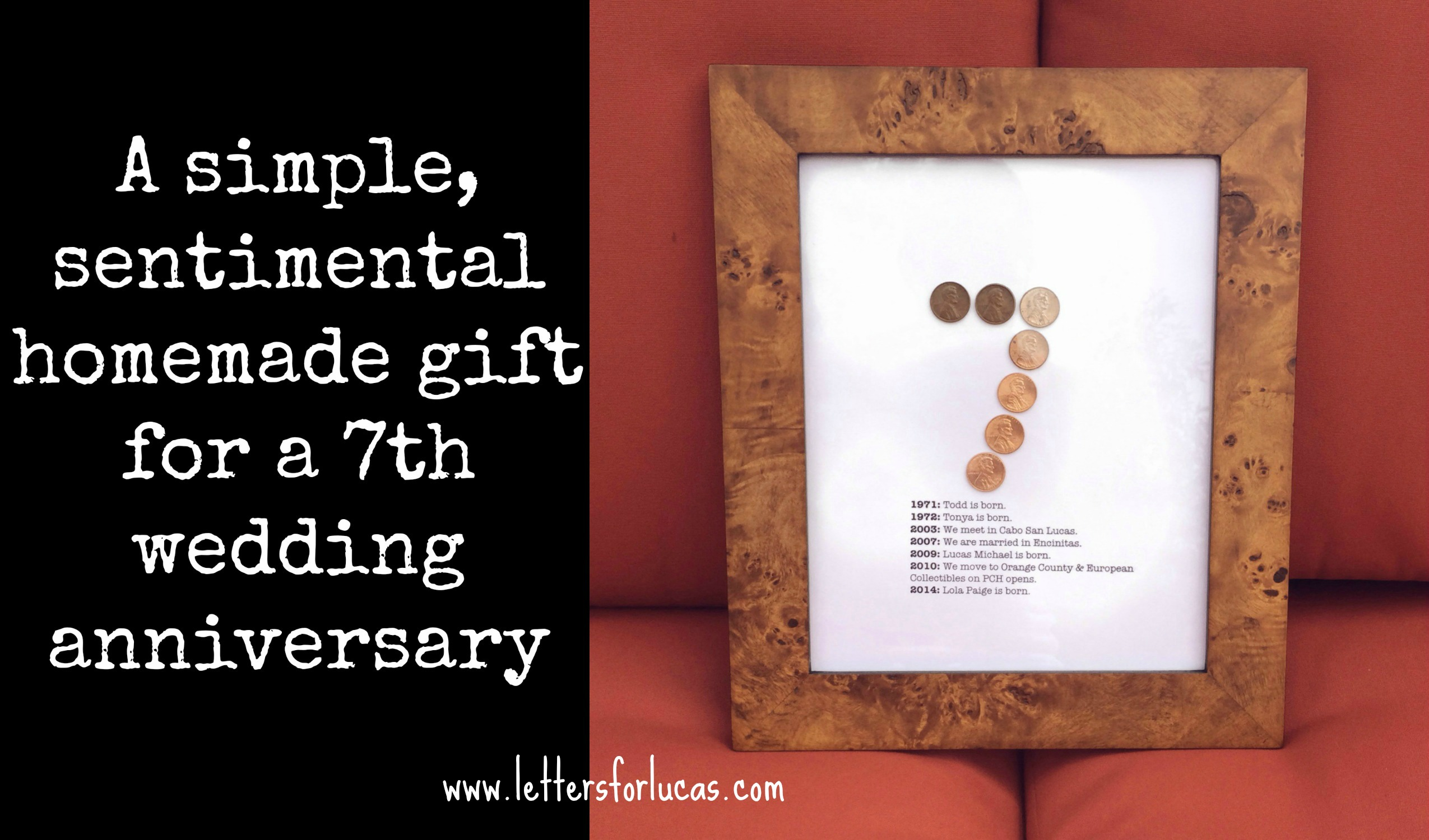 Wedding Anniversary Gift For Husband Ideas : simple gift idea for your 7th wedding anniversary