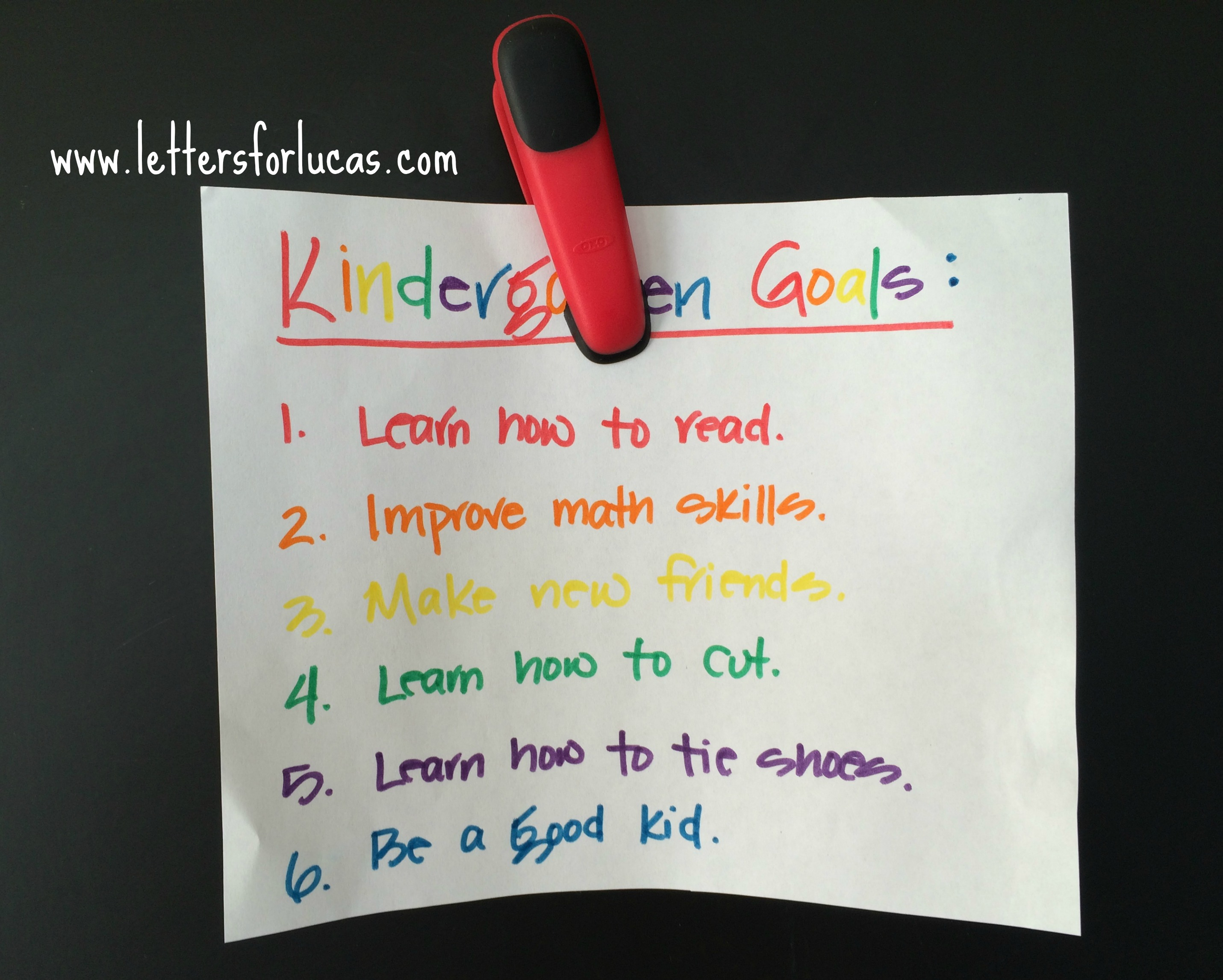 kindergartengoals